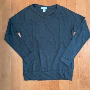 gray long sleeved shirt from forever 21 size small